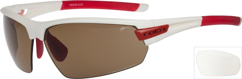 Športové slnečné okuliare Relax Imbros bielo červené R5387B