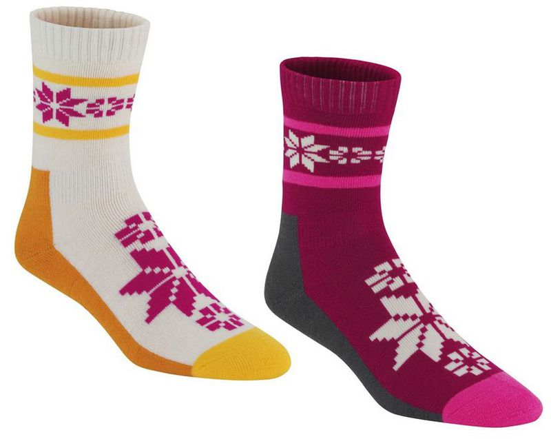 Ponožky Kari Traa RUSA WOOL SOCK 2PK RUBY S