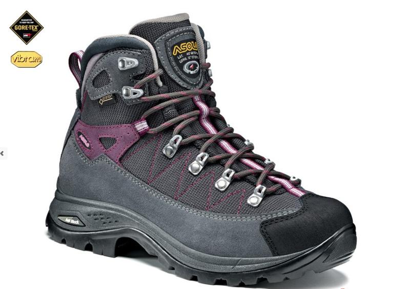 Topánky ASOLO Finder GV Grey / Gunmetal / Grapeade A742, dámske