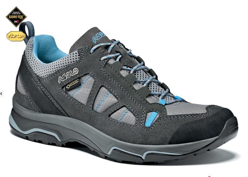 Topánky ASOLO Megaton GV Graphite   Stone   Cyan blue A788 0b8376322cb