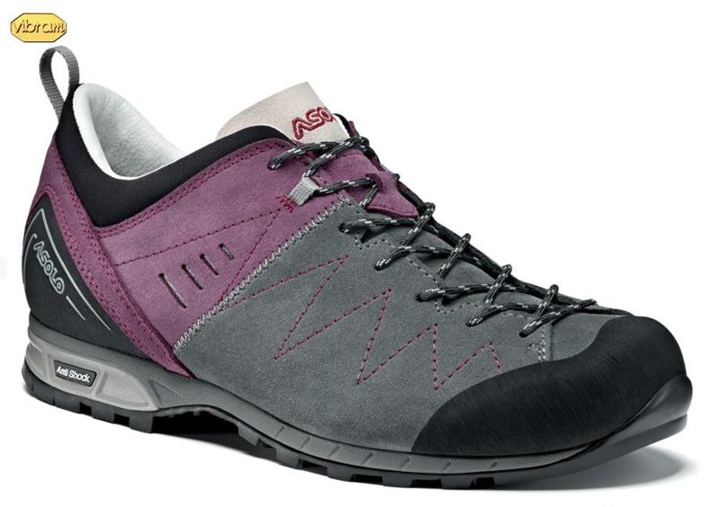 Topánky ASOLO Track Grey / Grapeade A643