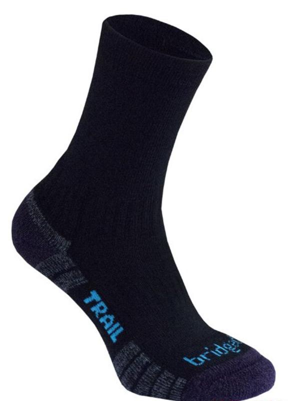 Ponožky Bridgedale Hike Lightweight Merino Performance Boot Women's black/purple/016 L (7-8,5)