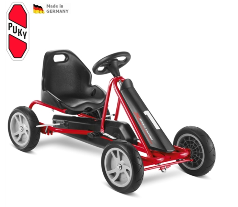 Detská šlapacia kára PUKY Go Cart F 20 čierno / červená