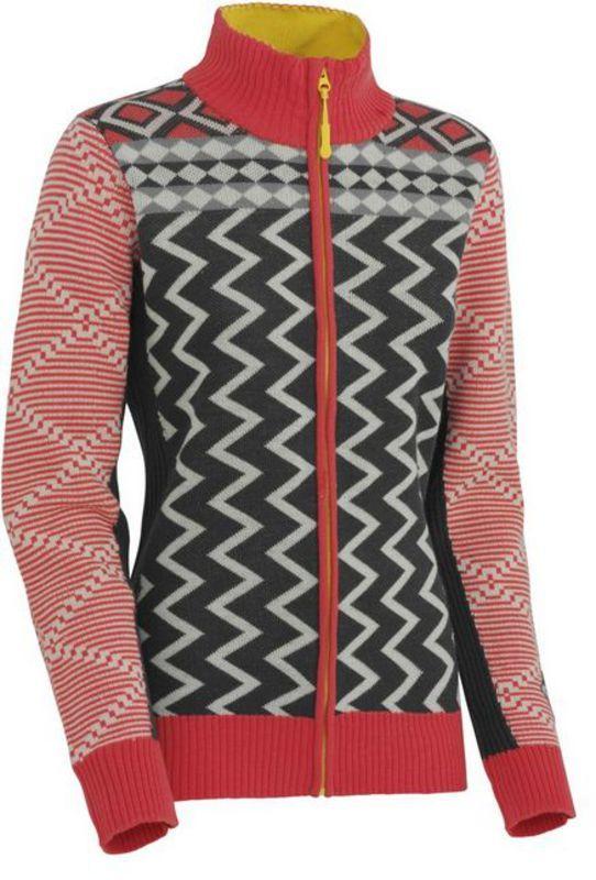 Vlnený sveter Kari Traa Vinje F/Z Knit EBONY XS