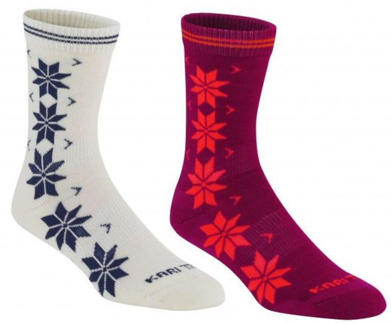 Ponožky Kari Traa VINST WOOL SOCK 2PK RUBY S