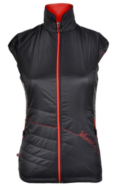 Dámska vesta Silvini CONCA WJ1105 black-red XXXL