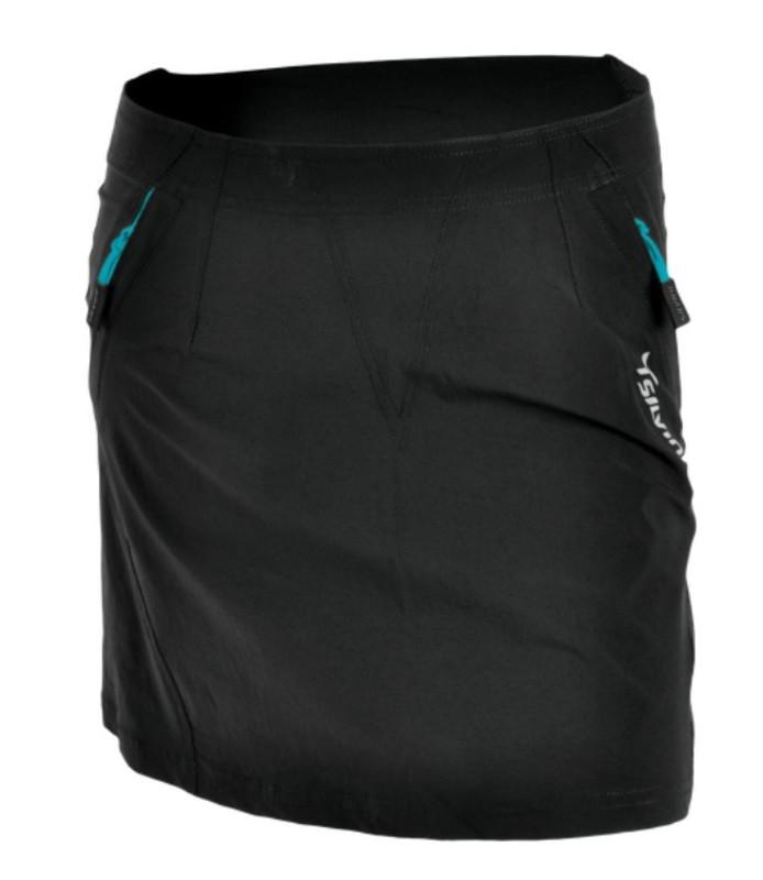 Dámska cyklistická sukňa Silvini INVIO WS859 black-turquoise M