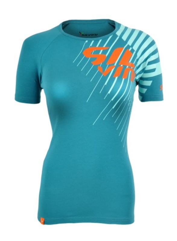 Dámske triko Silvini PROMO WT518 ocean-turquoise L