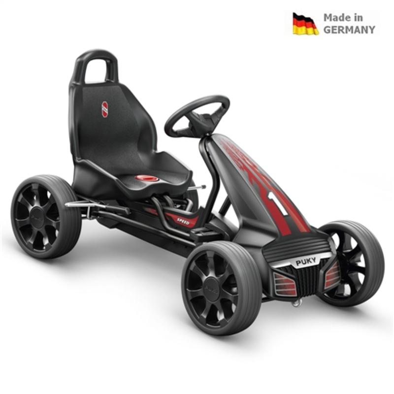 Detská šlapacia kára PUKY Go Cart Air F 550 čierno / červená