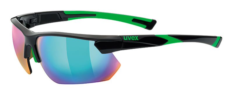 Športové okuliare Uvex SPORTSTYLE 221, Black Green (2716)