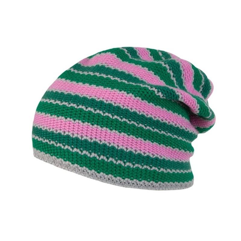 Čiapky Sensor Stripes ružová / zelená 16200194