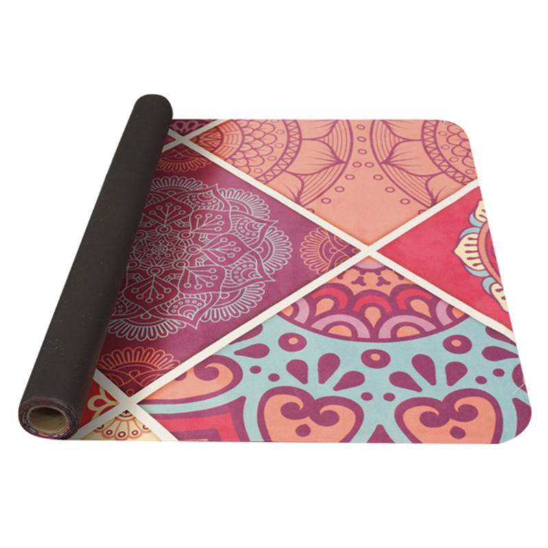 Podložka na jógu YATE yoga mat vzor A / ružová / prírodná guma
