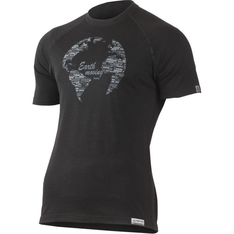 Tričko Lasting EARTH 9090 čierne merino XL