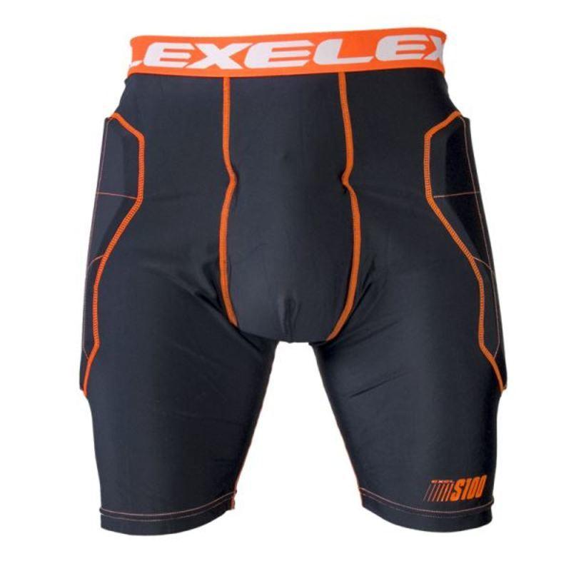 golmanský nohavice EXEL S100 PROTECTION SHORT black / orange
