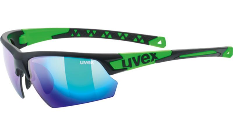 Športové okuliare Uvex SPORTSTYLE 224, Black Mat Green (2716)