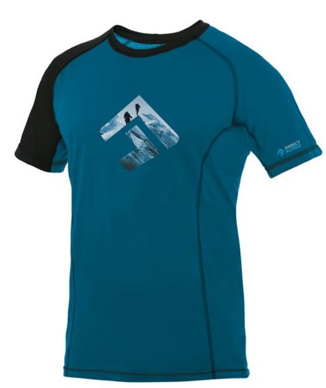 Tričko Direct Alpine Furry petrol / black (brand) XL