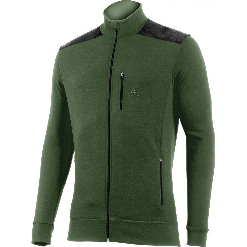 Merino Mikina Lasting HUBERT 6299 zelená vlnená XL