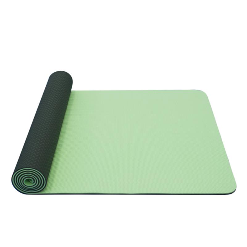 Podložka na jógu YATE yoga mat dvojvrstvová / zelená / materiál TPE