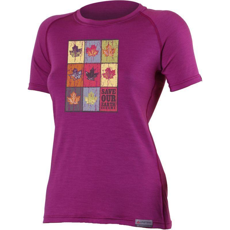 Tričko Lasting ZOZNAM 4848 ružové vlnené M