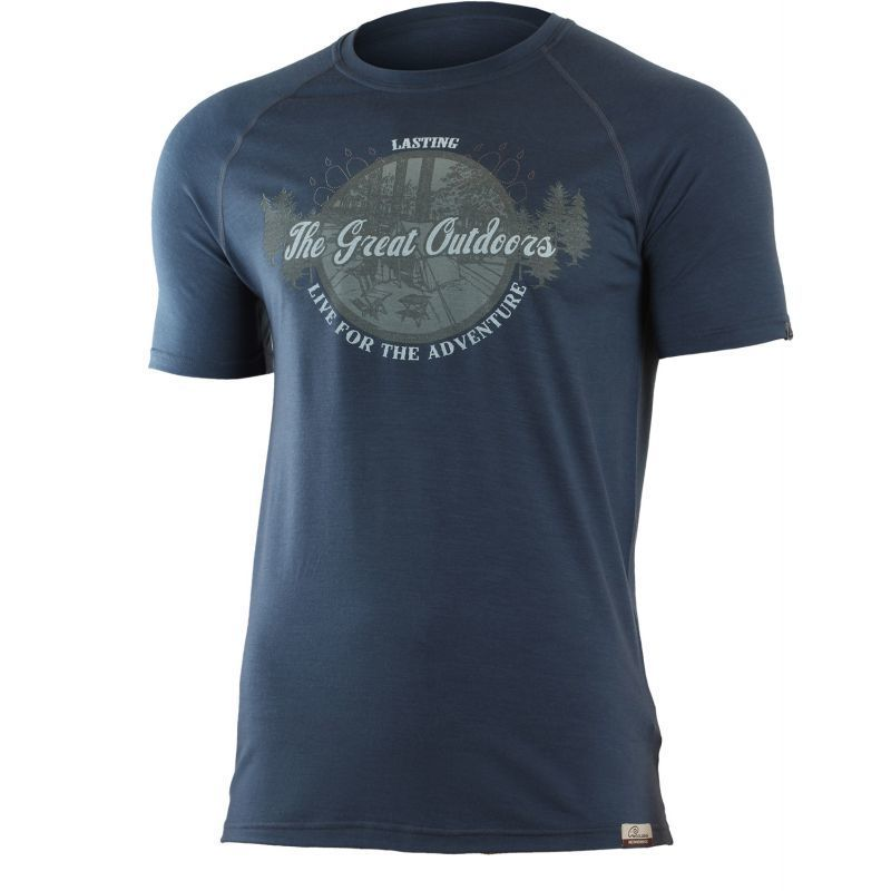 Merino triko Lasting LUCAS 5656 modré vlnené M