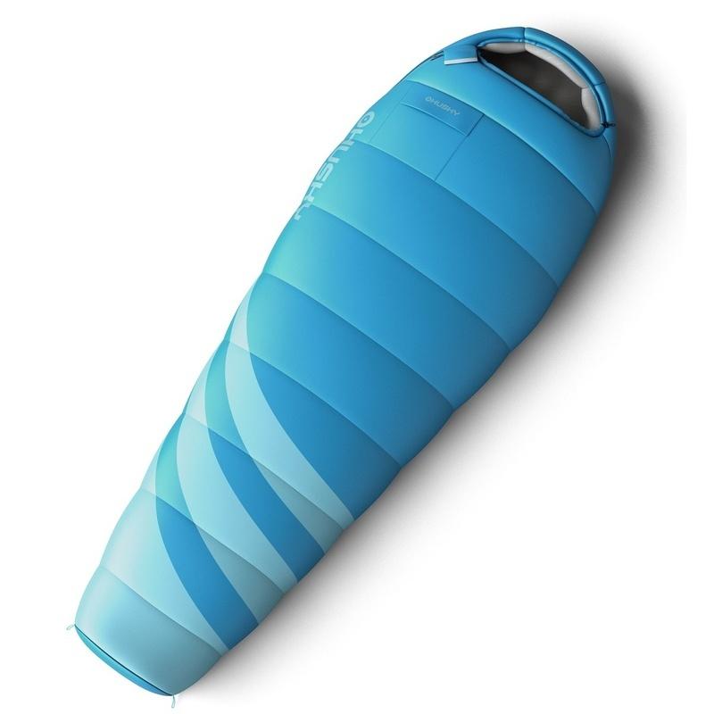 Set spací vrece Husky Ladies Majesty -10°C modrý + Karimatka Husky akord 1,8 modrá Zadarmo