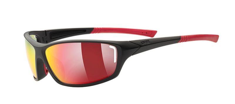 Športové okuliare Uvex Sportstyle 210 black mat red (2316)
