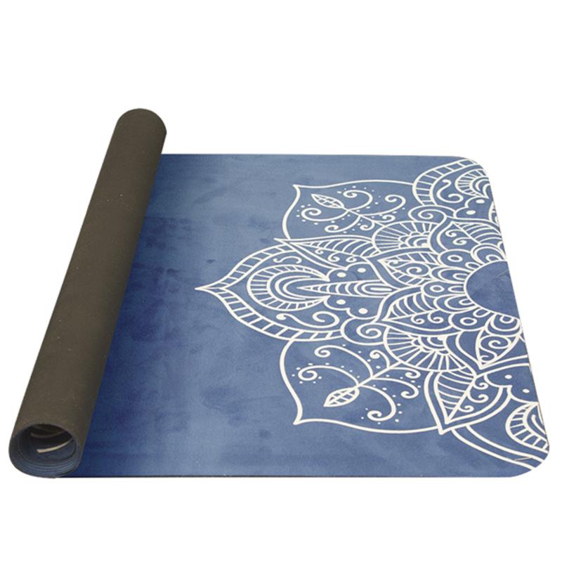 Podložka na jógu YATE yoga prírodne guma / vzor C / modrá