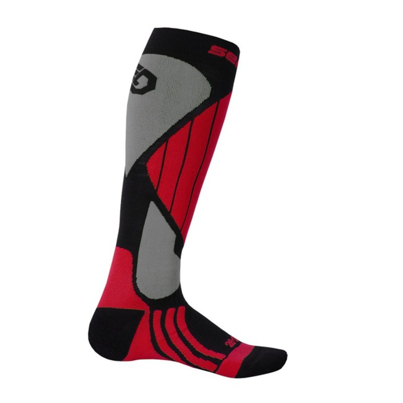 Ponožky Sensor Snow Pro čierna/červená/sivá 14200065 3/5 UK