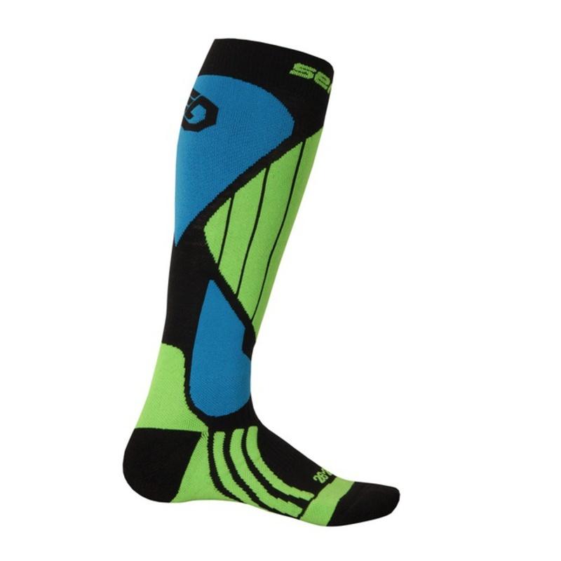Ponožky Sensor Snow Pro čierna/zelená/modrá 14200064 3/5 UK