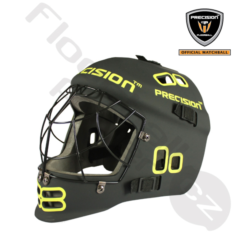 Maska PRECISION GOALIE HELMET BLACK/YELLOW JR