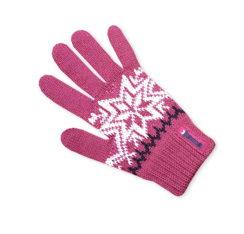 Detské pletené rukavice Kama RB10 114 ružová