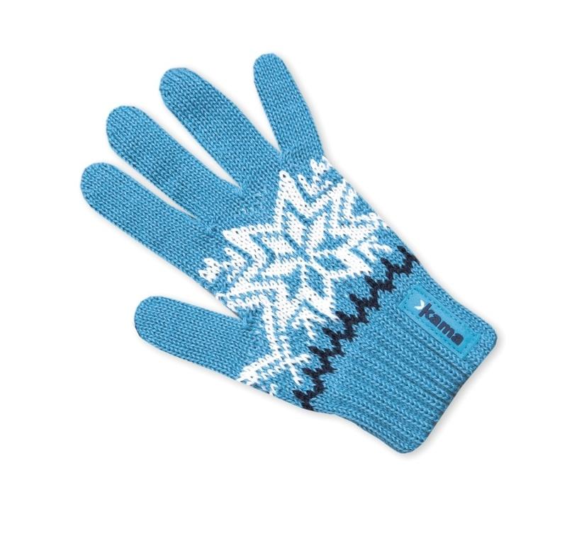 Detské pletené rukavice Kama RB10 115 tyrkysová