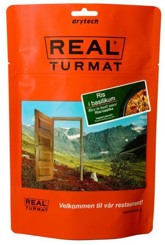 Real Turmat Ryža v bazalkové omáčke (vegetariánske), 141 g
