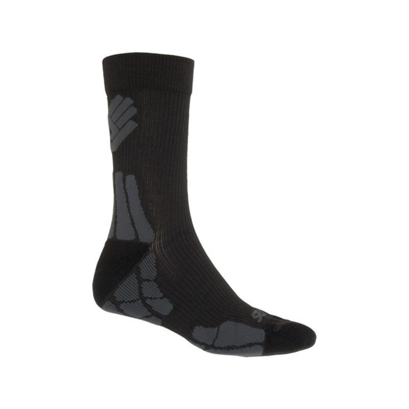 Ponožky Sensor Hiking New Merino Wool čierna / šedá 15200052 3/5 UK