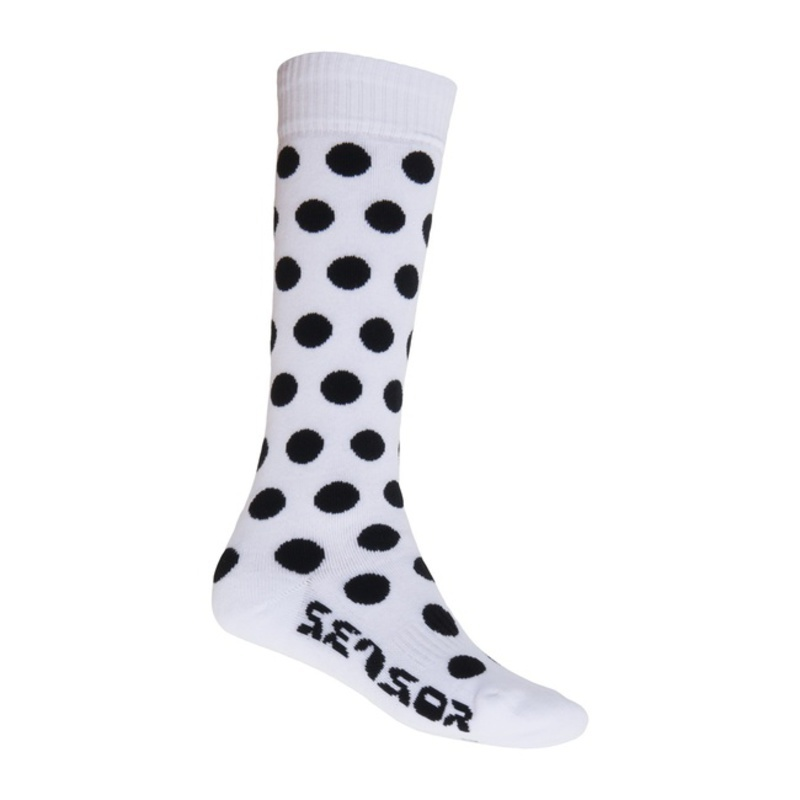 Ponožky Sensor Thermosnow Dots biele 15200064 6/8 UK