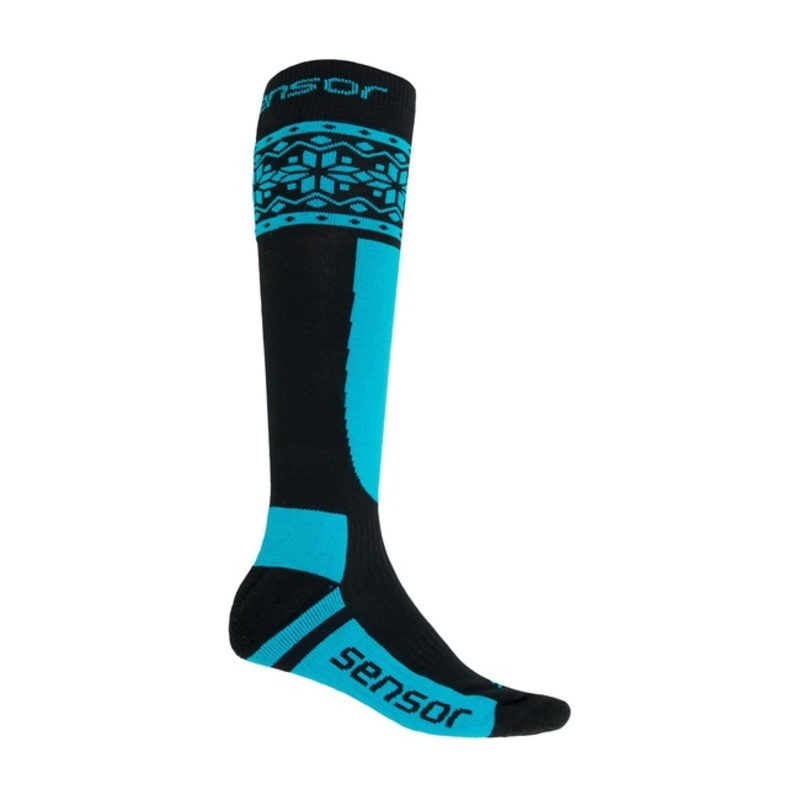 Ponožky Sensor Thermosnow NORWAY čierna / modrá 17200089 3/5 UK