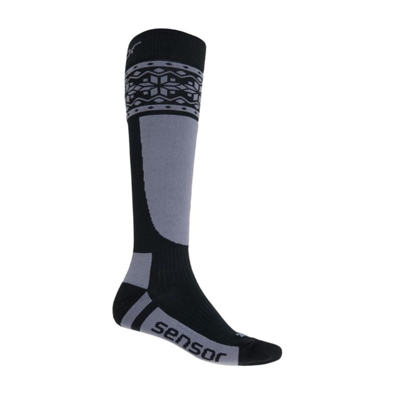 Ponožky Sensor Thermosnow NORWAY čierna / šedá 17200088 3/5 UK