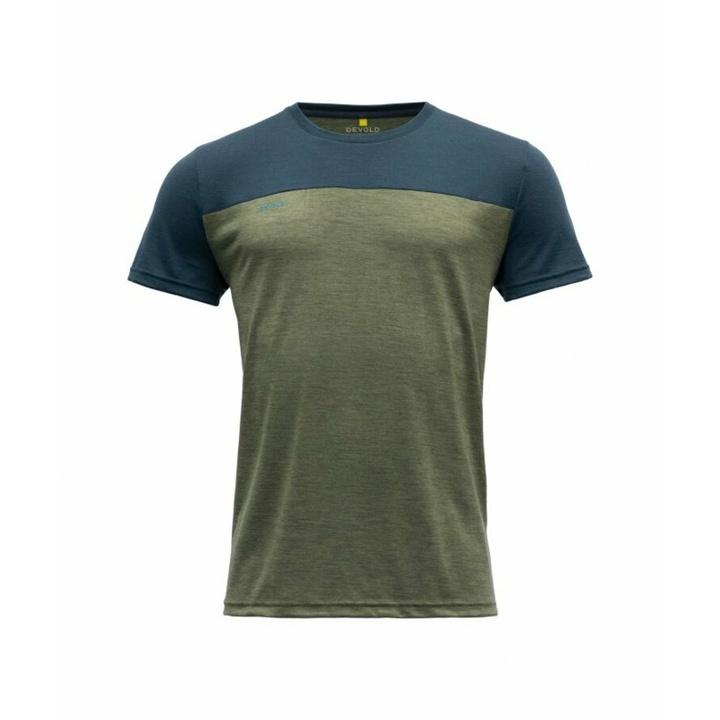 Pánske vlnené tričko s krátkym rukávom Devold Norang GO 180 213 B 404A zelená M