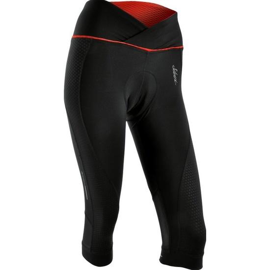 Dámske 3/4 cyklistické nohavice Silvini TINELLA WP1010 black-red