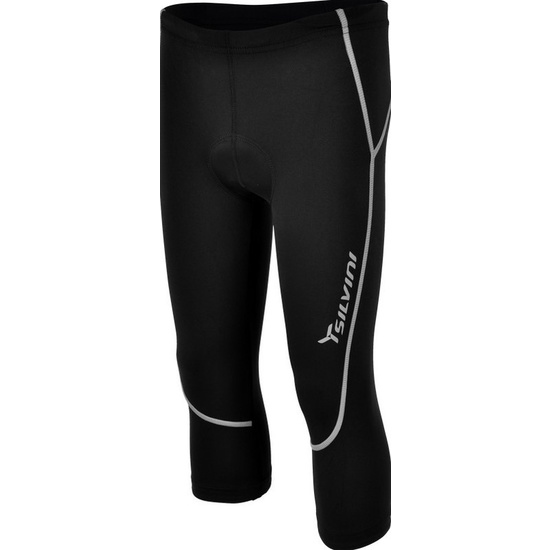 Detské 3/4 cyklistické nohavice Silvini BASENTO CP790 black