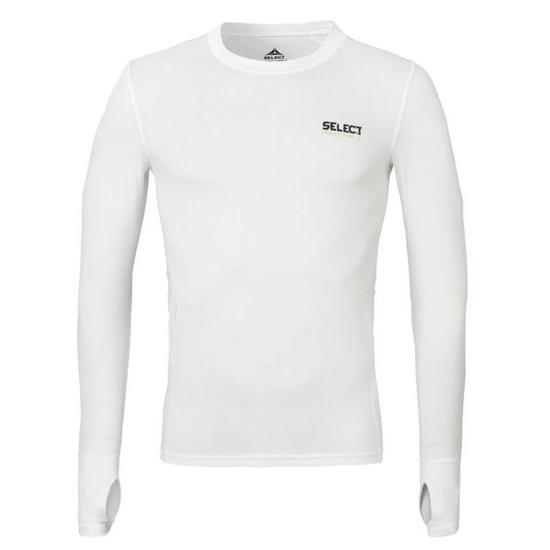 Kompresný triko Select Compression T-shirt L/S 6902 biela S