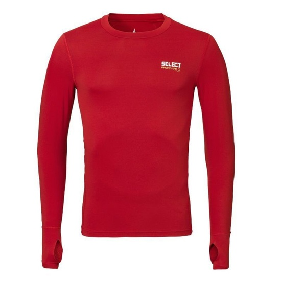 Kompresný triko Select Compression T-shirt L/S 6902 červená M