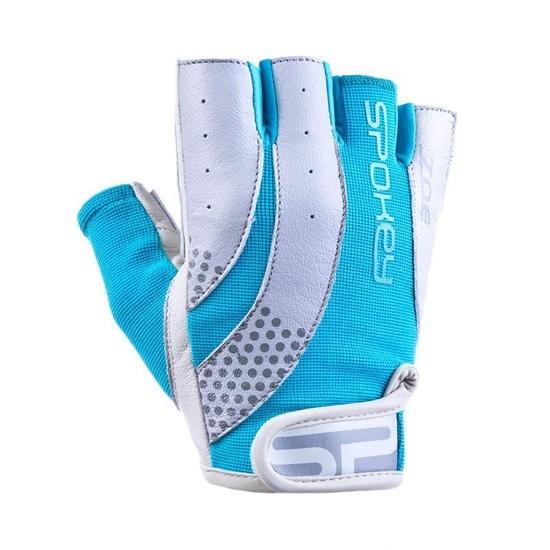 Dámske fitness rukavice Spokey ZOE II bielo-tyrkysové