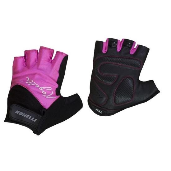 Dámske rukavice na kolo Rogelli DOLCE, ružové 010.613. S