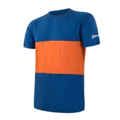 Pánske triko Sensor MERINO AIR PT kr.rukáv modrá / oranžová 18100007 M