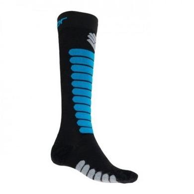 SENSOR ponožky Zero Merino čierna / modrá 17200091 3/5 UK