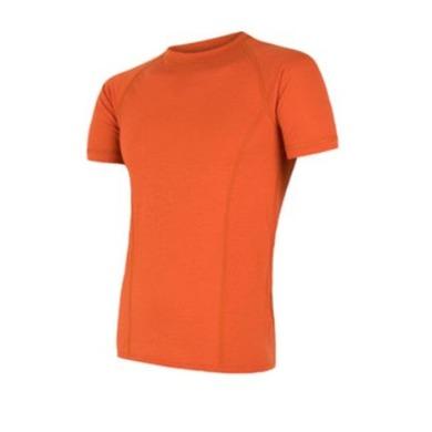 Pánske triko Sensor MERINO AIR PT kr.rukáv tm.oranžová S