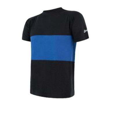 Pánske triko Sensor MERINO AIR PT kr.rukáv čierna / modrá 18100008 L