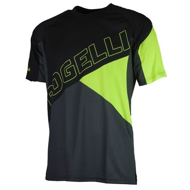 Voľný cyklistický MTB dres Rogelli ADVENTURE s krátkym rukávom a bez vreciek, čierno-reflexná žltý 060.100.