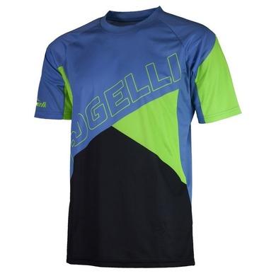 Voľný cyklistický MTB dres Rogelli ADVENTURE s krátkym rukávom a bez vreciek, modro-zelený 060.101.